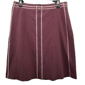 Elevenses 8 Skirt Purple Velvet Bow Embroidery